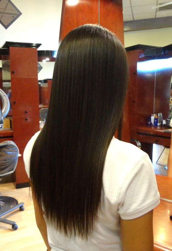 Hair straightening hair salons and hair straightening treatments on pinterest - Salon straightening treatments ...