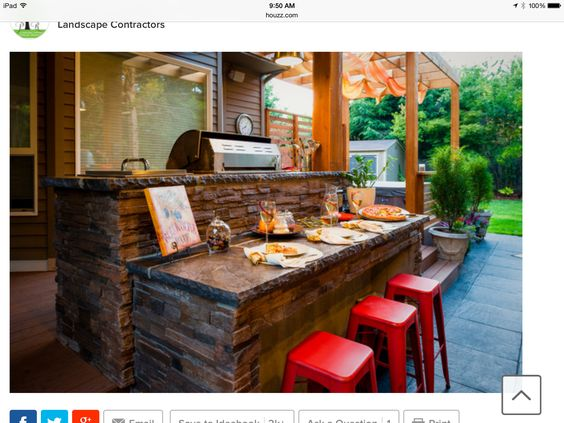 Outside grill area idea from Houzz.com