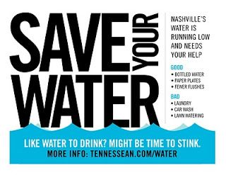 Save your water poster