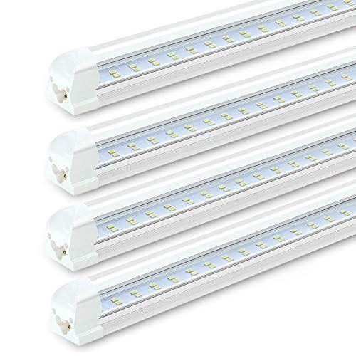 8ft Led Shop Lights Fixture 72w 7200lm 6000k Cool Whi Https Www Amazon Com Dp B07cmm4v5f Ref Cm Led Shop Lights Led Tube Light Led Parking Lot Lights