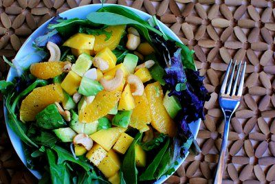 mango, orange & avocado salad