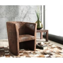 Vintage Home Accents Delife Sessel Goya Braun Lounge Chair Gepolstert Antik Optik Cocktailsessel Delifedelife Upholstered Chairs Armchair Brown Lounge