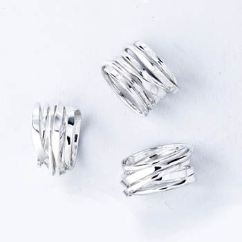 Dorothée Rosen: Onefooter Ring, In sterling silver.  Sold individually. Each ring is unique, so shapes will vary. Available in sizes 6, 6.5,...