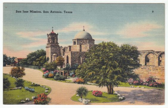 Mission (TX) United States  city images : Postcards United States # 44 San Jose Mission, San Antonio, Texas ...