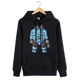 Pullover fleece hoodie with Aggron Stonebreaker printed Dota 2 theme for men