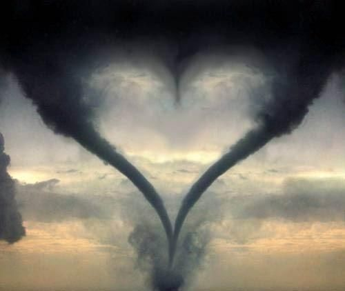 it's quite common for Mother Nature to meet up with Father Nature and make a heart shape with   a couple of tornados. Happens all the time! in..Photoshop...
