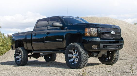Black & lifted Chevy