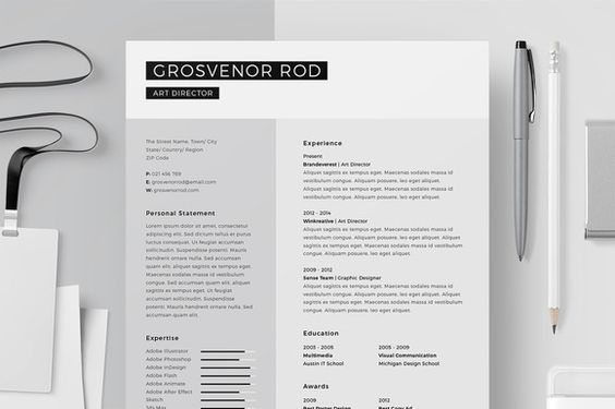 This Resume CV \ Cover Letter Set is made with high quality design - elements of a good cover letter