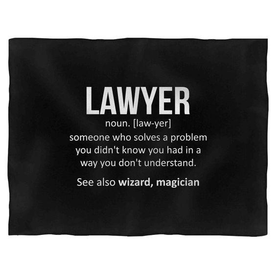 Lawyer Noun Definition Law Student Blanket