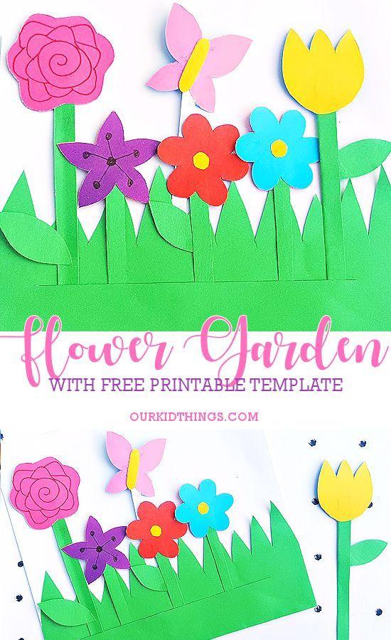 Paper Flower Garden Craft Garden Crafts For Kids Paper Flowers For Kids Paper Flowers Craft