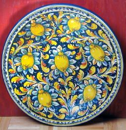 Italian Ceramics ~ Large Plate With Lemons