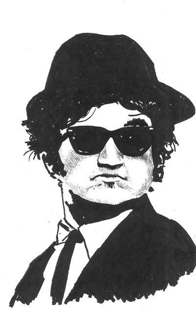 John Belushi Blues Brothers by CityArtCards on Etsy
