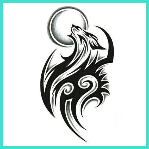 Tribal Tattoo Ideas For Shoulder And Chest Tattoos For Women Tribal Wolf Tattoo Celtic Wolf Tattoo Wolf Tattoos For Women