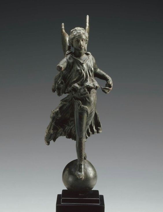 Bronze statuette of flying Victory. Roman. Early Imperial Period. 1st century B.C. to 1st century A.D. | Museum of Fine Arts, Boston