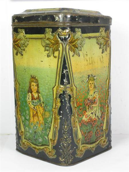 Art Nouveau French Sugar Tin