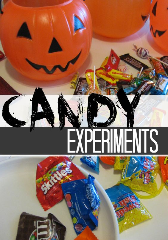 playing with candy: candy experiments (part one) | what to do with that #halloween candy (other than eating it!)
