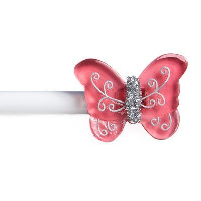 Kenney Butterfly Tweener Single Curtain Rod and Hardware Set Size: