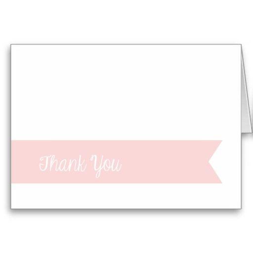 Modern Pink Banner Thank You Card