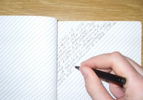 Slanted-line notebook--makes sense!: