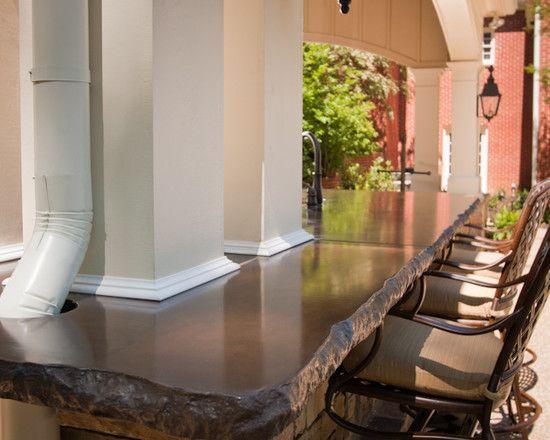 Spaces concrete countertops design pictures remodel - Coleman small spaces bbq decoration ...