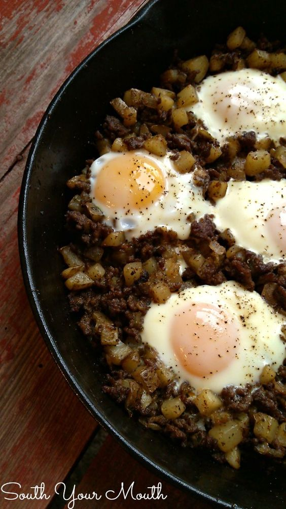 Hash Eggs This Is An Easy Rustic One Dish Meal Made