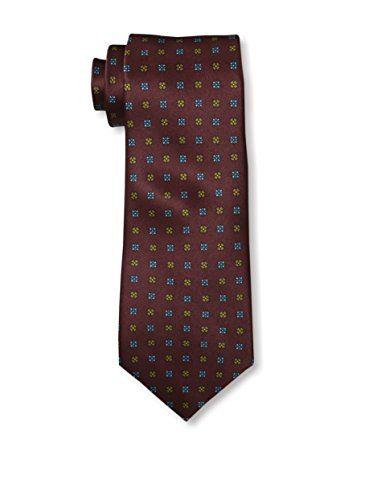 Valentino Men's Floral Tie, Burgundy