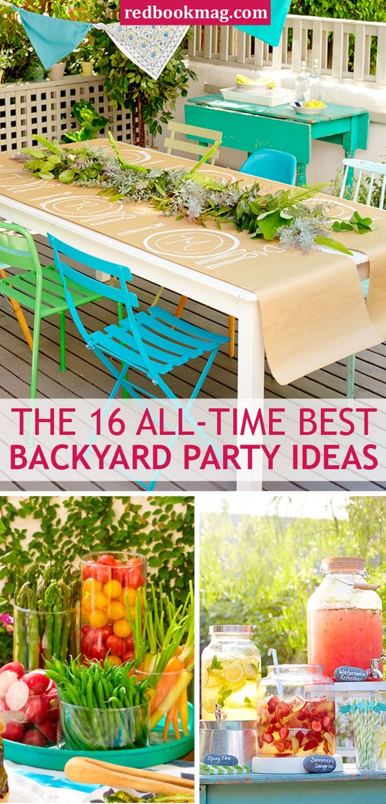 Summer parties easy decorations and party planning on for Backyard bbq decoration ideas