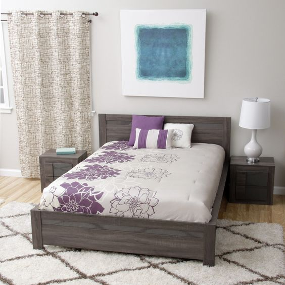 Maya Queen-size Bed and Two Nightstands Bedroom Set Shopping, The