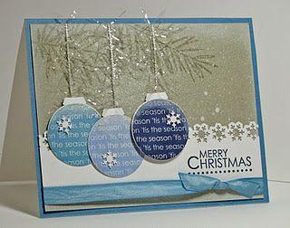 Blue ornament Christmas card