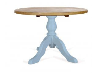 Round breakfast table- painted pedestal