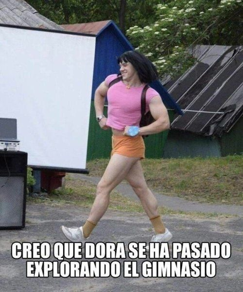 Memes Random De La Semana Dora La Exploradora A Ido Mucho Al Gym Memes Memesespanol Memesgraciosos Memesenespanol Memesqu Memes Memes Quotes Funny Memes