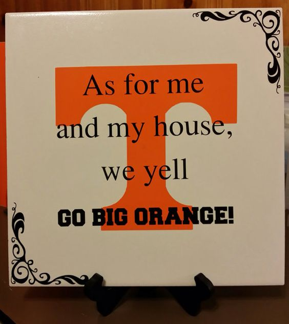 University of Tennessee Ceramic Tile Go Big by VinylCraftiness, $25.00