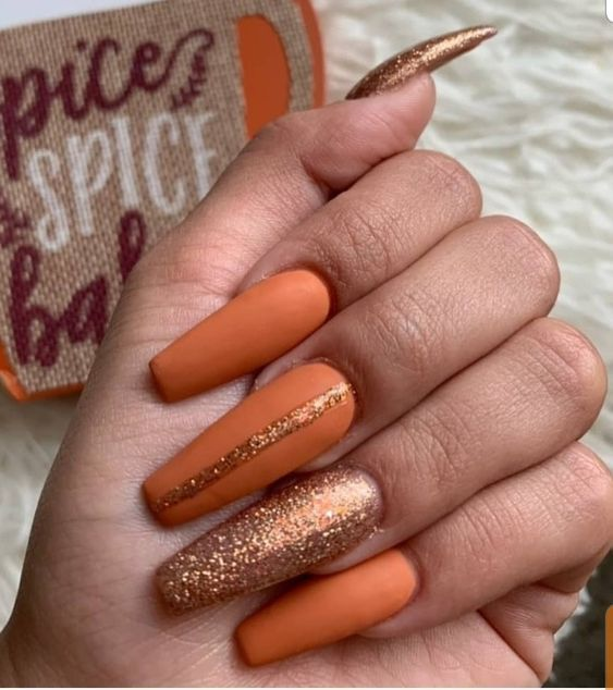 40 Insanely Cute Thanksgiving Nails That You Need To Try This Year Thanksgiving Nails Cute Nails For Fall Fall Acrylic Nails