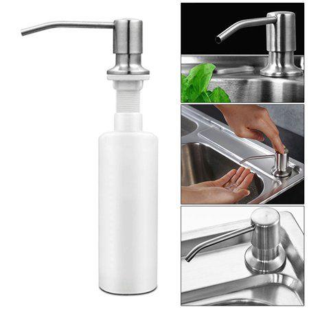 300ml 304 Stainless Steel Soap Dispenser Kitchen Bathroom Sink Clear Liquid Lotion Hand Pump Head Abs Bottle Refillable Bathroom Accessories Walmart Com Kitchen Soap Dispenser Soap Dispenser Stainless Steel Soap Dispenser