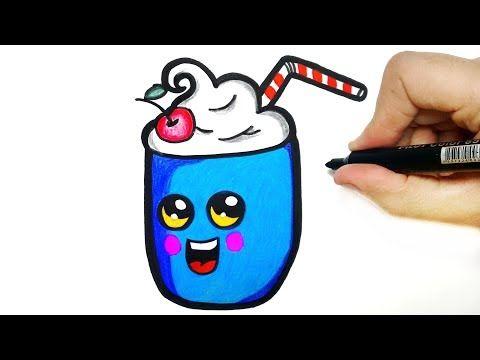 Como Desenhar Um Milk Shake Kawaii Youtube Kawaii