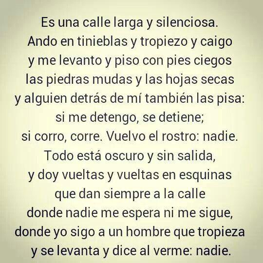 La callé. Octavio Paz