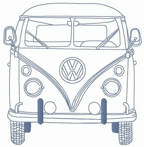 My Volkswagen Van Embroidery Design Machine Embroidery Designs Bernina Embroidery Machine Machine Embroidery