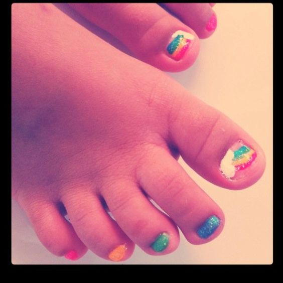 little girl toe nail designs little girl toenails as done by a