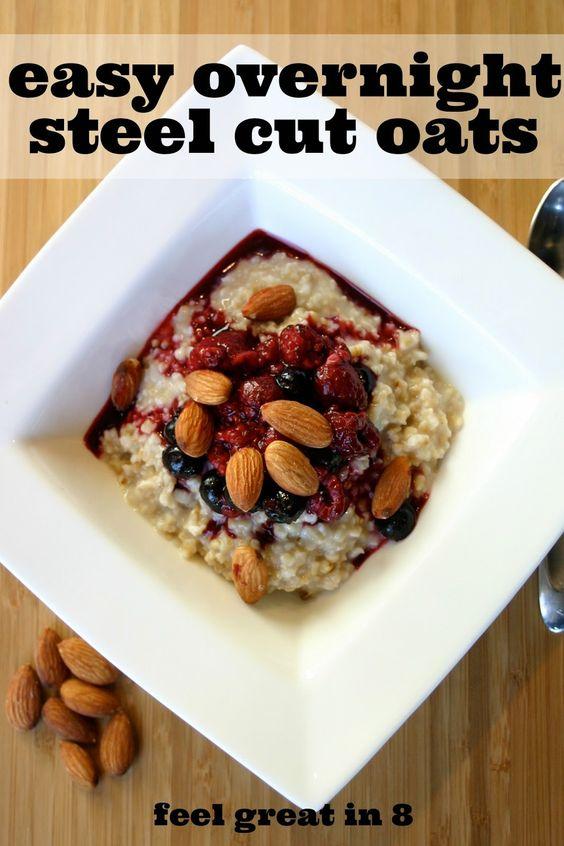Overnight steel cut oats, Steel cut oats and Steel on Pinterest