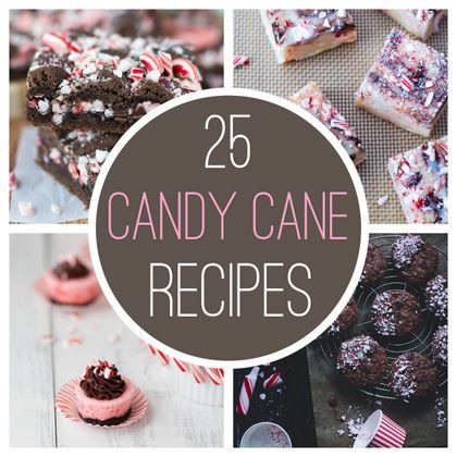 25 Treats to Make with Candy Canes #candycanes #peppermint #holiday #recipes