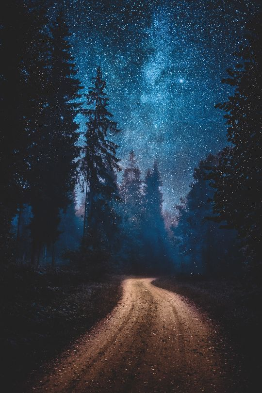 A Perfect Path To Walk Path Stars Night Nature Photography Landscape Wallpaper Nature Backgrounds