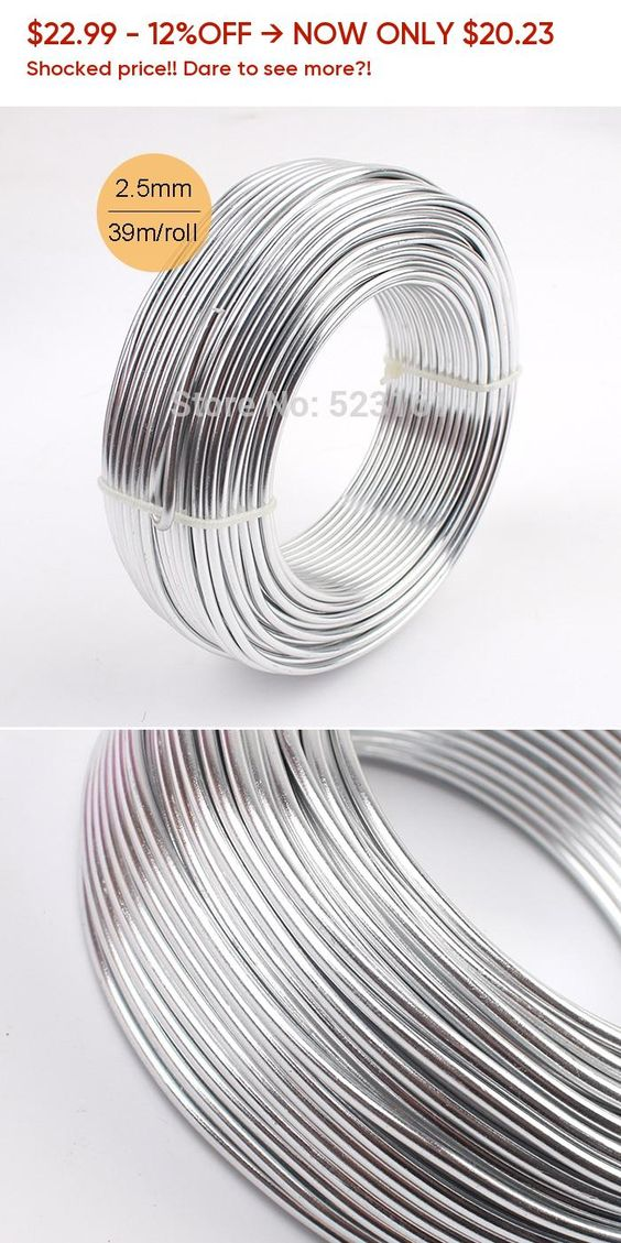 Wholesale Anodized Aluminum Craft Wire 2 5mm Round 10 Gauge 39m Silver Jewelry Whimsy Soft Wire Coil Permanent Colors Aluminum Crafts Silver Jewelry Jewelry