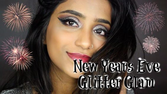 New Years Eve Glitter Makeup Tutorial #makeuptutorial #newyear #nye #2016 #glitterglam