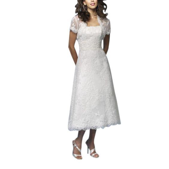 Over 50 tea length wedding dress and tea length wedding for What color dress for second wedding