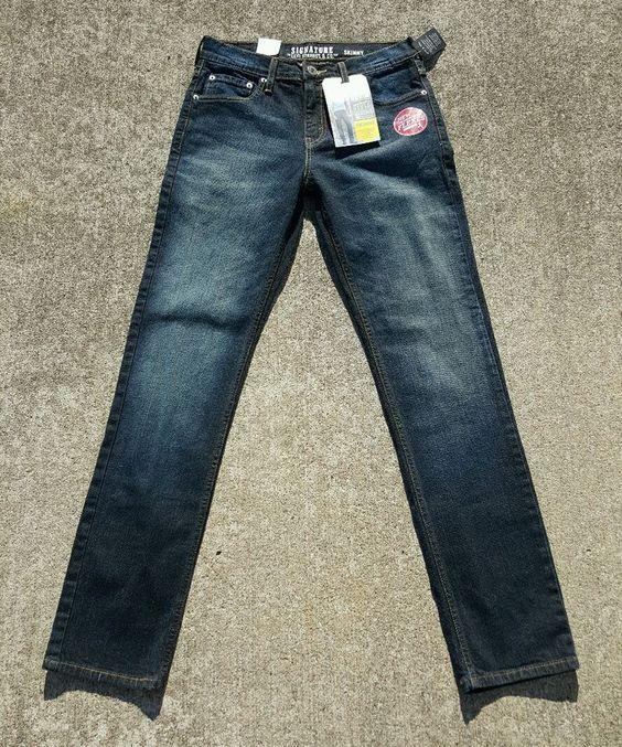 Levi Strauss Signature Men's Skinny Jeans Denim Size 29 x 32 NWT ...