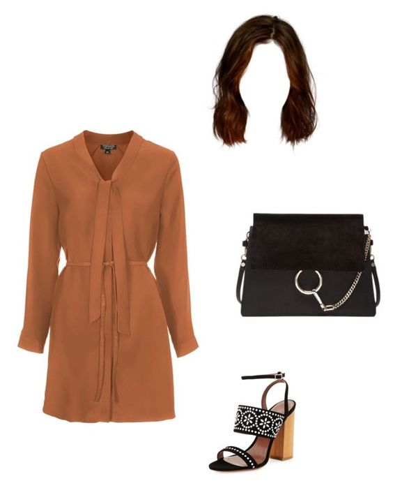 """""""Untitled #981"""" by aracely-munoz on Polyvore featuring Topshop, Tabitha Simmons and Chloé"""