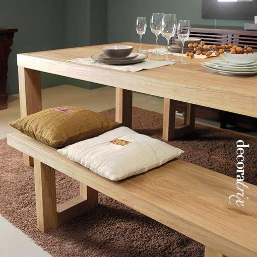 Idea para mesa de comedor con banco comedores pinterest mesas ideas para and ideas - Comedor con banca ...