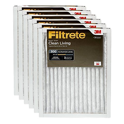 Filtrete Clean Living Basic Dust Filter Mpr 300 20 X 25 X 1 Inches 6 Pack Furnace Filters Dust Filter Air Filter