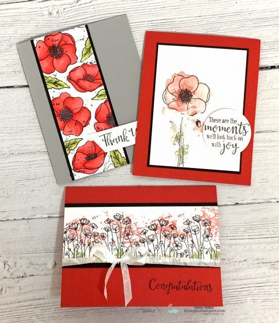 I Am Jumping Up And Down With Excitement Over The 12 Beautiful Cards You Can Make Easily With The New Peaceful Poppi Poppy Cards Flower Cards Stamping Up Cards