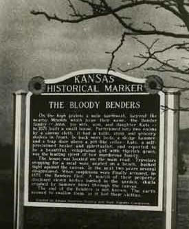 Bloody Benders were a family of serial killers in the 1870's in the township of Cherryvale, KS.
